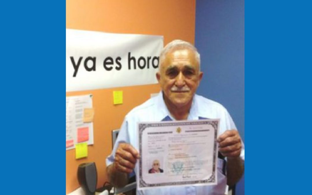 Jose Becomes a Citizen at 74